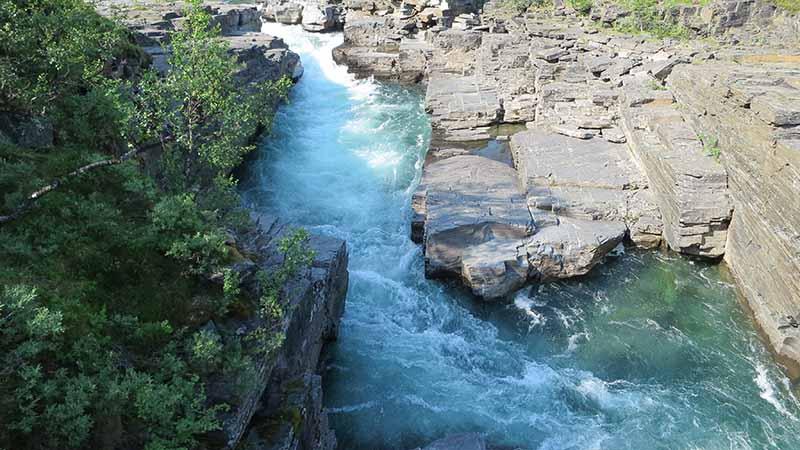 Горная река в Швеции