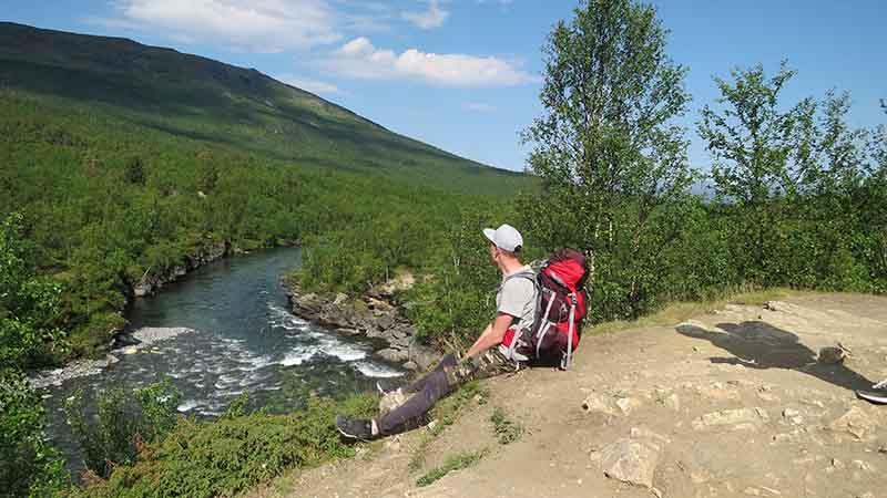 Красивый вид в горах Швеции