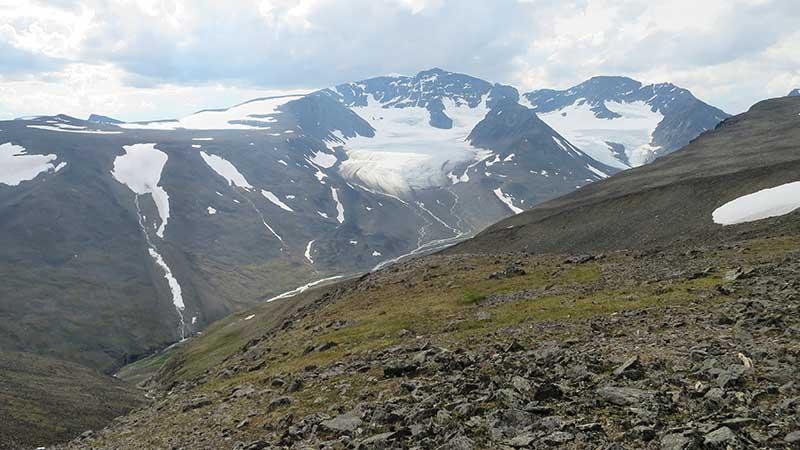 На вершине горы в Швеции