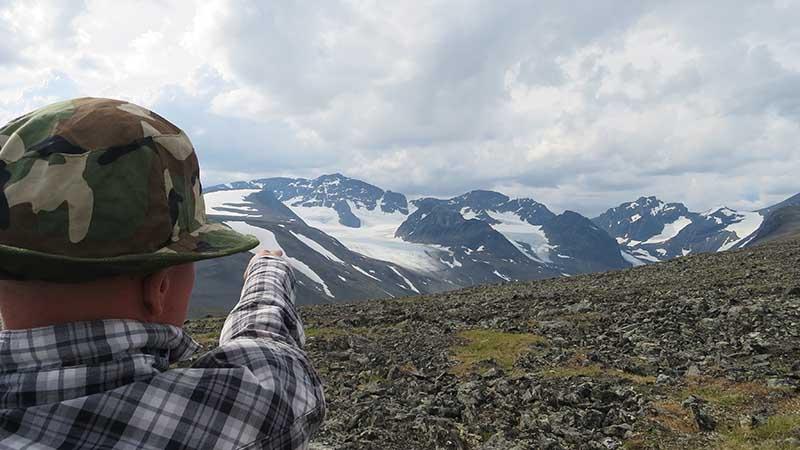 На вершине горы Kungsleden