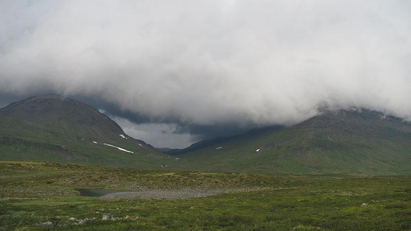 Непогода в горах Швеции