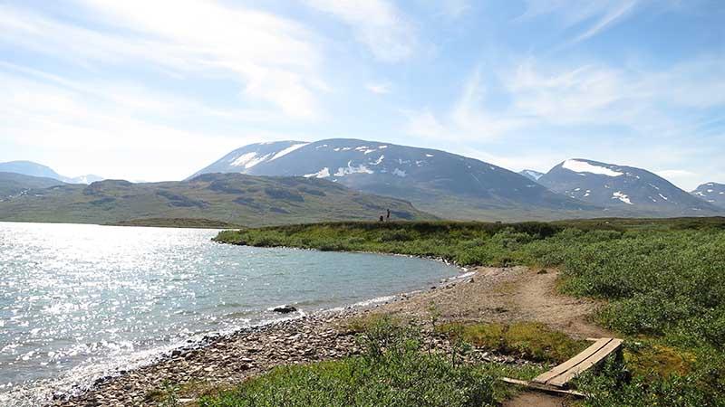 пляж в горах швеции