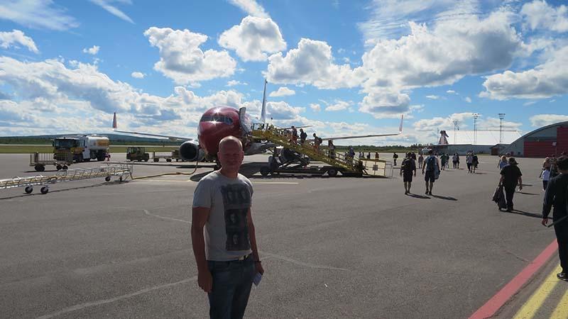самолет из kiruna в stockholm