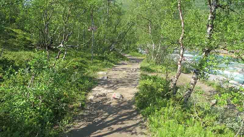 Туристическая тропа в Швеции