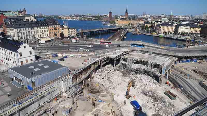 Вид на Стокгольм с моста