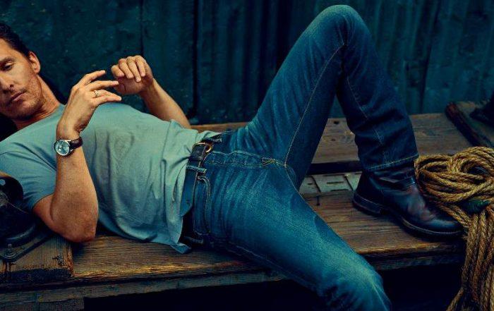 мужские ботинки с джинсами