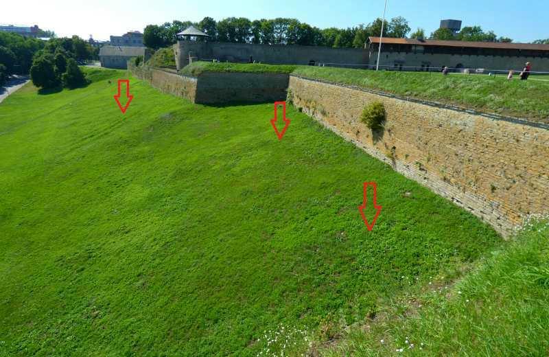 Вид с бастиона Спес нарвского замка